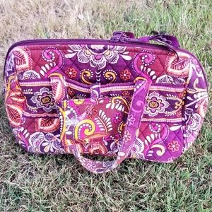 Vera Bradley lined cosmetic or lunch bag ID Holder